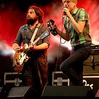 Das Pop (Bent Van Looy and Reinhard Vanbergen) perform live at Becks Fusions 2008, Castlefields Outdoor Arena, Manchester, Greater Manchester, UK, 06/09/2008