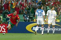 Lisbon 16/6/2004 Euro2004 <br />RUSSIA PORTUGAL<br />L'esultanza di Maniche dopo il primo gol<br />Maniche celebrates his goal<br />Photo Andrea Staccioli Graffiti