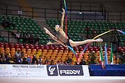 "Rebeca Riccò by team italia of rhythmic gymnastics  during the ""7th tournament city of Desio"", 09 March 2019."