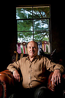 """Middleburg, VA -- Actor Robert Duvall, photographed in the tack room of his historic Byrnley Farm horse stable, stars in the new movie """"Get Low"""" where he portrays the character Felix Bush who lived life as a hermit for nearly 40 years before returning to 1930's civilization with plans to throw himself a """"funeral party"""" while still alive. --  Photo by Jack Gruber, USA TODAY"""