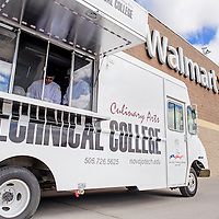 030714       Cable Hoover<br /> <br /> The Navajo Technical University culinary arts van is parked outside the Gallup Walmart Saturday while students prepare food.