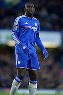 Kurt Zouma of Chelsea looking on. Barclays Premier league match, Chelsea v Norwich city at Stamford Bridge in London on Saturday 21st November 2015.<br /> pic by John Patrick Fletcher, Andrew Orchard sports photography.