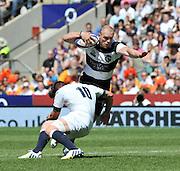 "Twickenham; GREAT BRITAIN;  Baa Baa's Mike TINDALL, tackled by Freddie BURN, during the  England vs Barbarians [Baa Baa's],  at Twickenham Stadium; Surrey on, Sunday  26/05/2013   [Mandatory Credit; ""Photo, Peter Spurrier/Intersport-images]"
