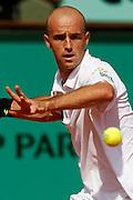 Roland Garros. Paris, France. June 9th 2006..Ivan Ljubicic against Rafael Nadal during the semi finals.