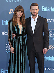 Jessica Biel, Justin Timberlake, The 22nd Annual Critics Choice Awards at Barker Hangar (Santa Monica, CA.)