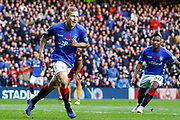 Scott Arfield of Rangers turns to celebrate during the Ladbrokes Scottish Premiership match between Rangers and Motherwell at Ibrox, Glasgow, Scotland on Sunday 11th November 2018.