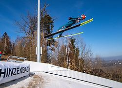 09.02.2020, Energie AG Skisprung Arena, Hinzenbach, AUT, FIS Weltcup Ski Sprung, Damen, im Bild Lisa Eder (AUT) // during her jump for the women's FIS Ski Jumping World Cup at the Energie AG Skisprung Arena in Hinzenbach, Austria on 2020/02/09. EXPA Pictures © 2020, PhotoCredit: EXPA/ Reinhard Eisenbauer