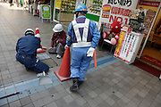 pedestrian road repair Japan Yokosuka