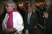 Mrs. and Mr. Ronnie Corbett, The South Bank Show Awards, Savoy Hotel. London. 23 January 2007.  -DO NOT ARCHIVE-© Copyright Photograph by Dafydd Jones. 248 Clapham Rd. London SW9 0PZ. Tel 0207 820 0771. www.dafjones.com.