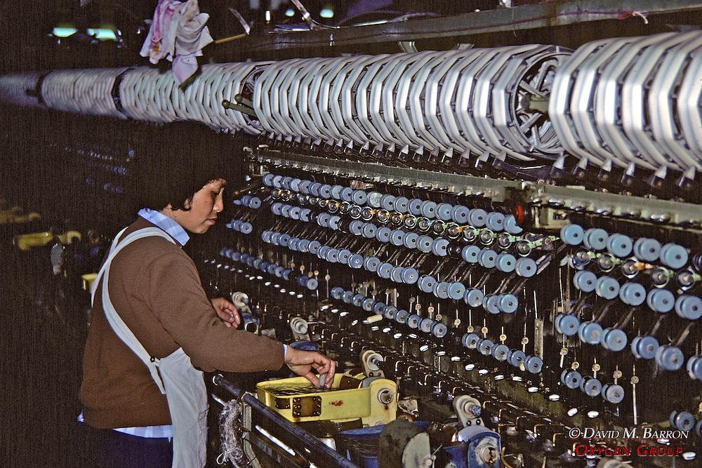 Worker in Silk Factory