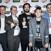 UK album of the year Winner Matthew Healy, George Daniel, Jonathan Gilmore of The Music Producers Guild Awards at Grosvenor House, Park Lane, on 27th February 2020, London, UK.