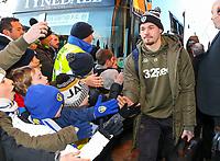 Leeds United's Kalvin Phillips arrives at Elland Road<br /> <br /> Photographer Alex Dodd/CameraSport<br /> <br /> The EFL Sky Bet Championship - Leeds United v Norwich City - Saturday 2nd February 2019 - Elland Road - Leeds<br /> <br /> World Copyright © 2019 CameraSport. All rights reserved. 43 Linden Ave. Countesthorpe. Leicester. England. LE8 5PG - Tel: +44 (0) 116 277 4147 - admin@camerasport.com - www.camerasport.com