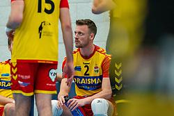 Jeroen Rauwerink of Dynamo in action during the semi cupfinal between Sliedrecht Sport vs. Draisma Dynamo on April 03, 2021 in sports hall De Basis, Sliedrecht