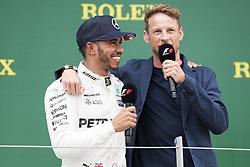 July 16, 2017 - Silverstone, Great Britain - Motorsports: FIA Formula One World Championship 2017, Grand Prix of Great Britain, .#44 Lewis Hamilton (GBR, Mercedes AMG Petronas F1 Team), Jenson Button (GBR) (Credit Image: © Hoch Zwei via ZUMA Wire)