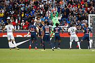Alphonse Areola (PSG) catched the ball, Billy KETKEOPHOMPHONE (SCO Angers), Neymar da Silva Santos Junior - Neymar Jr (PSG), Marcos Aoas Correa, Marquinhos (PSG), Wilfried KANGA (SCO Angers), Thiago Silva (PSG) during the French championship L1 football match between Paris Saint-Germain (PSG) and SCO Angers, on August 25th, 2018 at Parc des Princes Stadium in Paris, France - Photo Stephane Allaman / ProSportsImages / DPPI