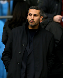 Manchester City chairman Khaldoon Al Mubarak in the stands during the UEFA Champions League, Quarter Final at the Etihad Stadium, Manchester.
