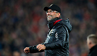 Football - 2018 / 2019 UEFA Champions League - Semi-Final, Second Leg: Liverpool (0) vs. Barcelona (3)<br /> <br /> Jurgen Klopp manager of Liverpool celebrates winning the match at Anfield.<br /> <br /> COLORSPORT/LYNNE CAMERON