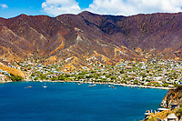 Taganga skyline cityscape Magdalena in Colombia South America