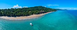 Luftaufnahme vom Strand N'Gouja, Plage de N Gouja, Kanikeli, Mayotte / Aerial View of Beach Plage de N'Gouja, Kanikeli, Mayotte