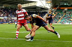 Will Butler of Worcester Warriors scores a try - Mandatory by-line: Robbie Stephenson/JMP - 29/07/2017 - RUGBY - Franklin's Gardens - Northampton, England - Worcester Warriors v Gloucester Rugby - Singha Premiership Rugby 7s