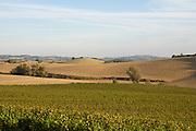 rolling hills landscape of the Languedoc Aude Razes