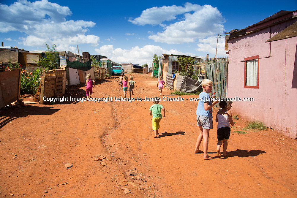 White Squatter Camps - South Africa.