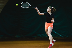 Eva Cikajlo during national tennis cup tournament, Telemach - Drzavni pokal, on January 16, 2021 in Teniski klub Branik, Maribor, Slovenia. Photo by Blaž Weindorfer / Sportida
