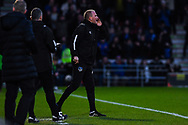 Pete Wild of Manchester City (Caretaker Manager) shouts instructions during the The FA Cup fourth round match between Doncaster Rovers and Oldham Athletic at the Keepmoat Stadium, Doncaster, England on 26 January 2019.