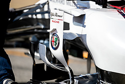 February 28, 2019 - Montmelo, Barcelona, Calatonia, Spain - Antonio Giovinazzi's (Alfa Romeo Racing) C38 car seen in action during the second week F1 Test Days in Montmelo circuit, Catalonia, Spain. (Credit Image: © Javier Martinez De La Puente/SOPA Images via ZUMA Wire)