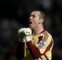 Photo: Jed Wee/Sportsbeat Images.<br /> Newcastle United v Tottenham Hotspur. The FA Barclays Premiership. 22/10/2007.<br /> <br /> Newcastle goalkeeper Shay Given celebrates their opening goal.