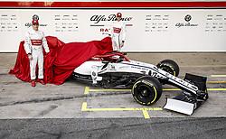 February 18, 2019 - Barcelona, Spain - Motorsports: FIA Formula One World Championship 2019, Test in Barcelona, , #7 Kimi Raikkonen (FIN, Alfa Romeo) ,  , #99 Antonio Giovinazzi (IT ITAL Team Alfa Romeo) (Credit Image: © Hoch Zwei via ZUMA Wire)