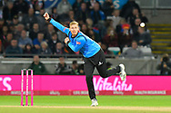 Danny Briggs of Sussex bowling during the final of the Vitality T20 Finals Day 2018 match between Worcestershire Rapids and Sussex Sharks at Edgbaston, Birmingham, United Kingdom on 15 September 2018.
