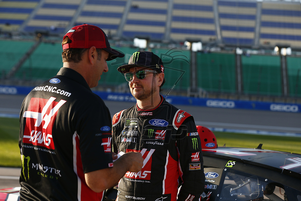October 20, 2017 - Kansas City, Kansas, USA: \{persons}\ hangs out out on pit road prior to qualifying for the Hollywood Casino 400 at Kansas Speedway in Kansas City, Kansas.