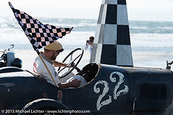 Bobby Green in his #22 Overland Whippet at the Race of Gentlemen. Wildwood, NJ, USA. October 10, 2015.  Photography ©2015 Michael Lichter.