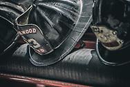 Close up of an American firemans helmet
