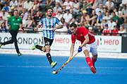 England's David Condon. England v Argentina - Hockey World League Semi Final, Lee Valley Hockey and Tennis Centre, London, United Kingdom on 18 June 2017. Photo: Simon Parker