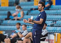 Football - 2019 / 2020 EFL Championship -  Millwall vs. Huddersfield Town<br /> <br /> Danny Schofield, Caretaker manager of Huddersfield Town, reacts after chance for his team goes close at The Den.<br /> <br /> COLORSPORT/DANIEL BEARHAM