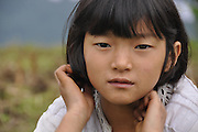 Portrait of a young Indian girl. Photographed in India, Sikkim