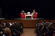 """Anne Sinclair presents her book """"21 rue de la Boetie"""" at the French Institute in  Madrid with Montserrat Dominguez, Editorial Director of The Huffington Post in Spain."""
