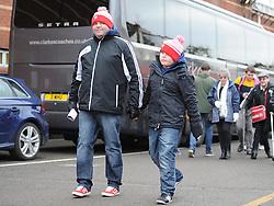 Bristol city fans arrive at Aston Gate  - Photo mandatory by-line: Alex James/JMP - Mobile: 07966 386802 - 25/01/2015 - SPORT - Football - Bristol - Ashton Gate - Bristol City v West Ham United - FA Cup Fourth Round