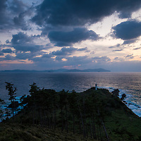 Sunset at Nagu-misaki Cape on Dogo, the largest island of the Oki Islands, an archipelago in the Sea of Japan, Shimane Prefecture, Japan.