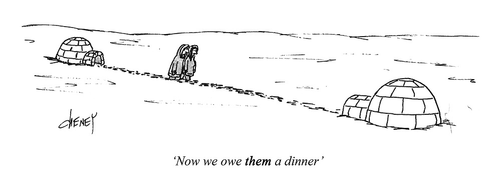 'Now we owe THEM a dinner'