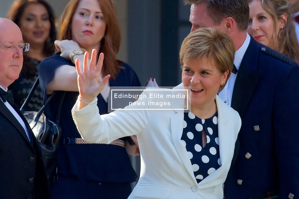 Nicola Sturgeon attending a charity event Organised by The Hunter Foundation. Former US president Barack Obama will address business leaders and take part in a Q&A at the Edinburgh International Conference Centre. 26th May 2017, (c) Brian Anderson   Edinburgh Elite media