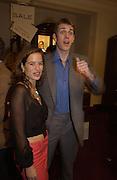 Ben Elliot and Jade Jagger. Charity sale of the last ever sale at Asprey and Garrard. New Bond St. London. 15/1/02© Copyright Photograph by Dafydd Jones 66 Stockwell Park Rd. London SW9 0DA Tel 020 7733 0108 www.dafjones.com