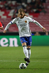 December 5, 2017 - Lisbon, Portugal - Basel's defender Michael Lang from Suisse in action during the UEFA Champions League Group A football match between SL Benfica and FC Basel at the Luz stadium in Lisbon, Portugal on December 5, 2017. (Credit Image: © Pedro Fiuza/NurPhoto via ZUMA Press)