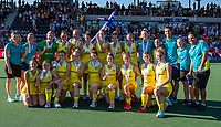 AMSTELVEEN  -  Oranje wint de finale na schoot outs. Team Australie    na   de finale  Nederland-Australie (2-2)  van de Pro League hockeywedstrijd dames. .  COPYRIGHT KOEN SUYK