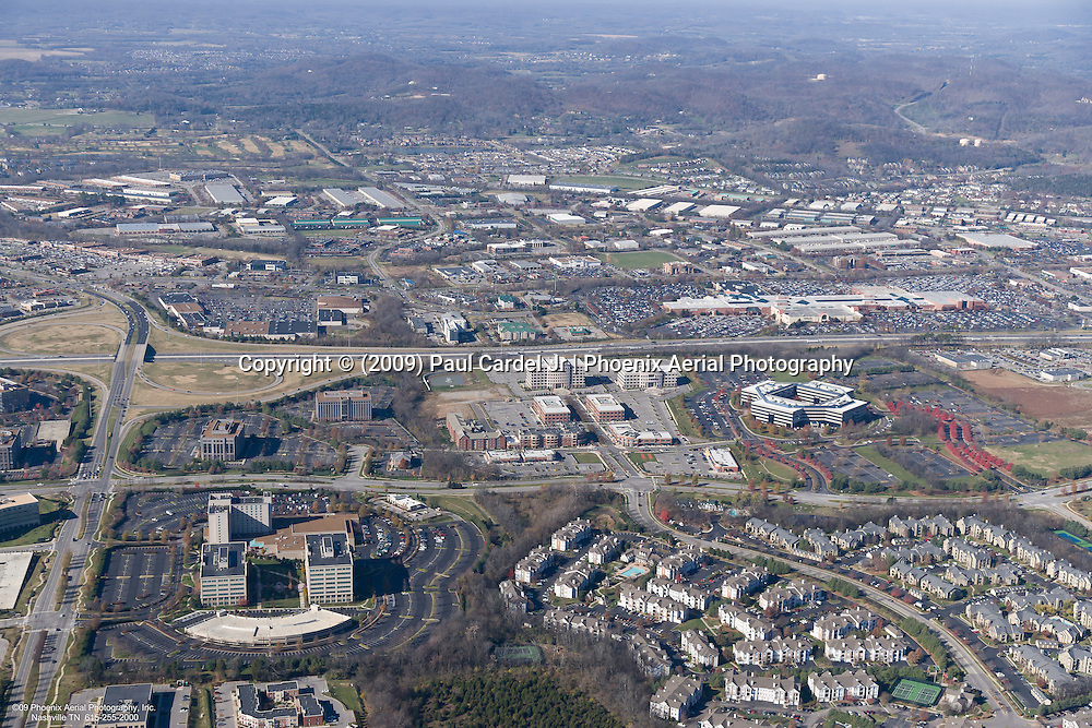 Aerial photo showing the CoolSprings Galleria Mall in Franklin Tennessee on Black Friday.