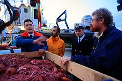 ITALY GIARDINI NAXOS 7MAY08 - Italian Coast Guard official discusses the handover of fishing gear  after the pursuit of illegal driftnet fishing boat Diomede II to their home port of Giardini Naxos  in Sicily in the Mediterranean Sea...jre/Photo by Jiri Rezac / Greenpeace..© Jiri Rezac 2008..Contact: +44 (0) 7050 110 417.Mobile:  +44 (0) 7801 337 683.Office:  +44 (0) 20 8968 9635..Email:   jiri@jirirezac.com.Web:    www.jirirezac.com..© All images Jiri Rezac 2008 - All rights reserved.