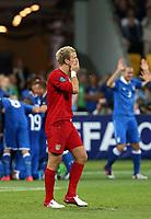 Fotball<br /> EM 2012<br /> Kvartfinale<br /> England v Italia<br /> 24.06.2012<br /> Foto: Gepa/Digitalsport<br /> NORWAY ONLY<br /> <br /> Bild zeigt die Enttaeuschung von Joe Hart (ENG).