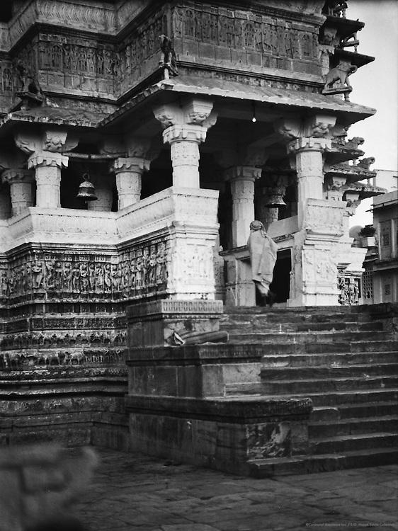 Krishna Temple Steps, Udaipur, India, 1929